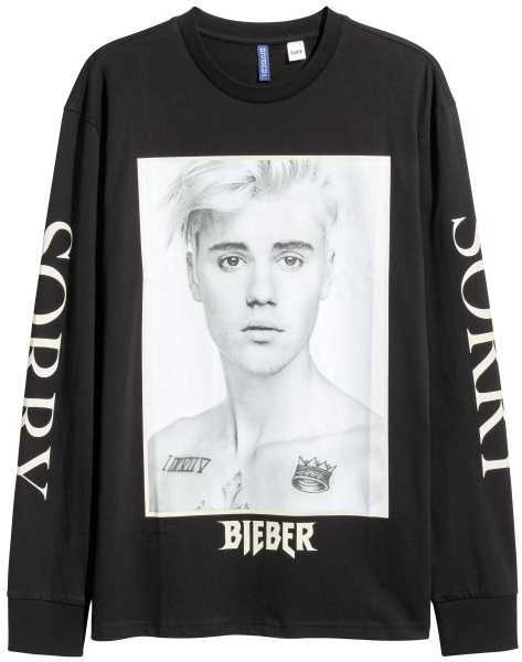 BEIBER SORRY LONG SLEEVE T-SHIRT
