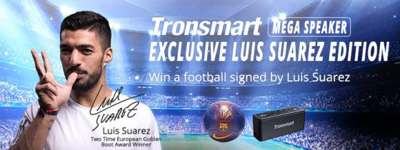 Tronsmart Luis Suarez Football and Speaker giveaway