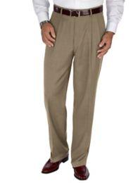 Super Fine Wool Sharkskin Pleated Pants